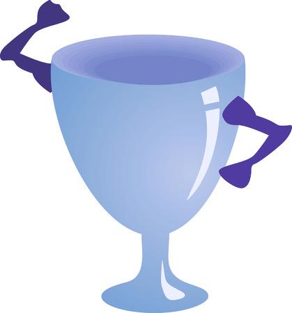 A blue cup  Vector