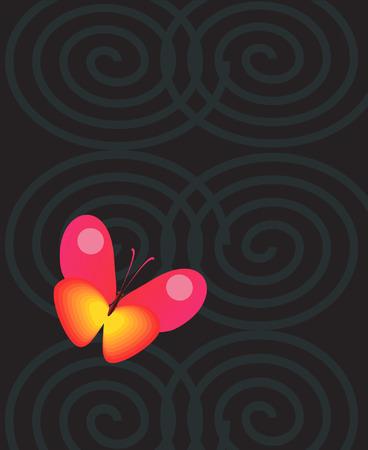 butterfly stroke: A butterfly in a dark ring