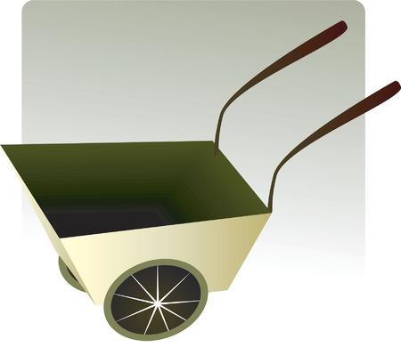 wheel barrow: A wheel barrow in a light Illustration