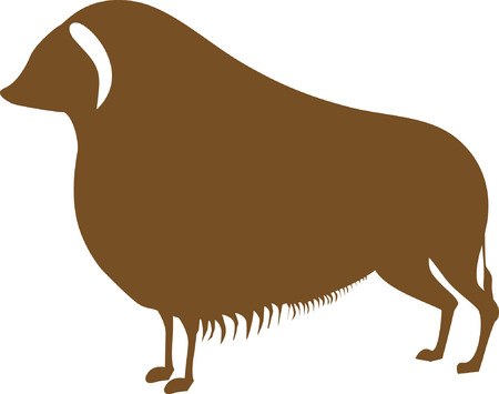 suffer: A brown yak with horns downward