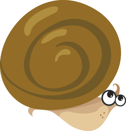 occhi sbarrati: Una lumaca si spostano con gli occhi ben aperti Vettoriali