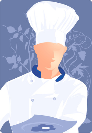 manly: A silhouette of chef looking  busy in his work