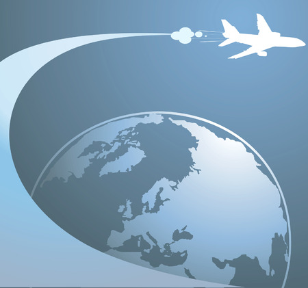 Aeroplane passing through earth