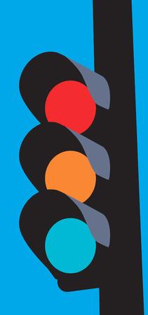 traffic signal: Illustration d'un signal lumineux de circulation