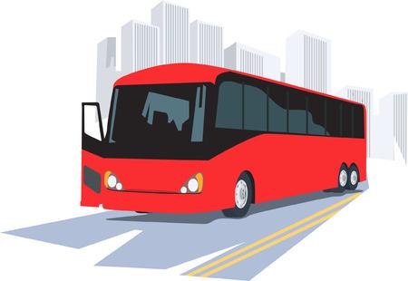 Illustration of luxury bus isolated