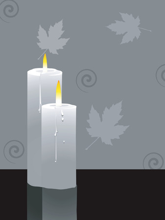 lighted: Illustration of two candles lighted Illustration of two candles lighted Illustration of two candles lighted