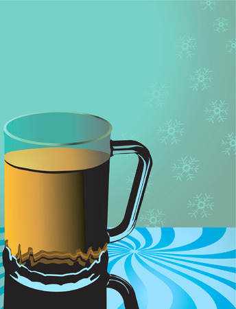 Illustration of a glass with orange juice   Vector