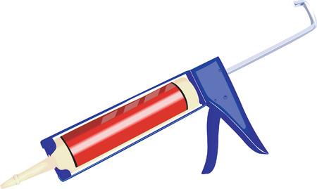 pied   � coulisse: Illustration d'un vernier calliper de nouveau avec des rayures Illustration