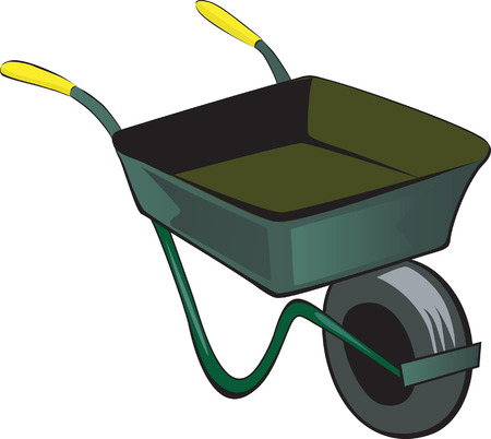 wheelbarrow: Illustration of  Wheelbarrow with yellow handle