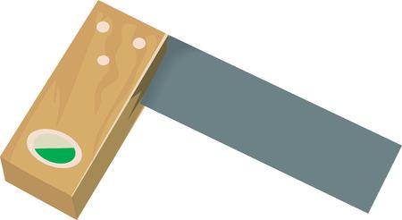 pied   � coulisse: Illustration L au moyen de la place dans le domaine de la construction Illustration