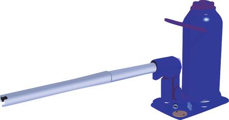 Illustrazione della pompa idraulica con maniglia