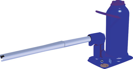 Illustration of hydraulic pump with handle Vettoriali