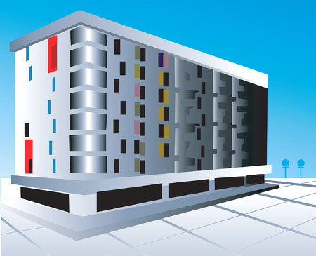storey: Illustration of a multi storey building with floor