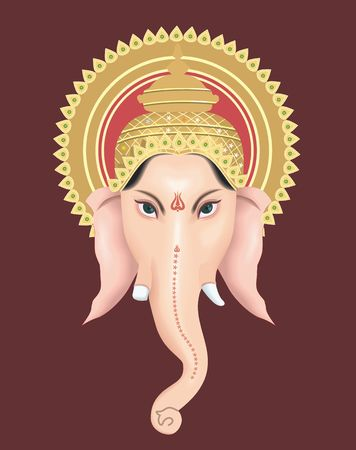 Illustration of Lord Ganesh with his crown Stock Illustration - 2151480