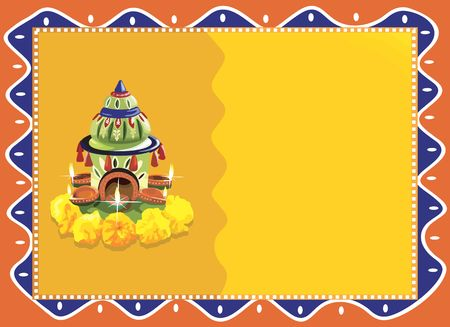 Flower decoration for offering  in radiant yellow photo
