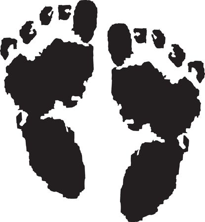 incriminate:  Illustration of Foot prints of guru