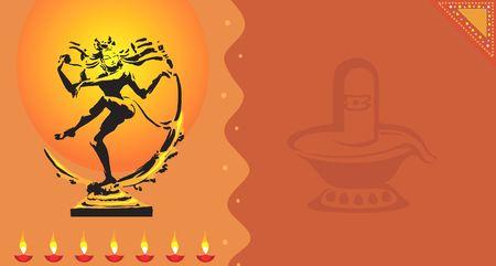 shiva: Illustration de la sculpture de Nataraja statue avec Shivling  Banque d'images