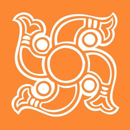 swastika: Illustration of divine swasti