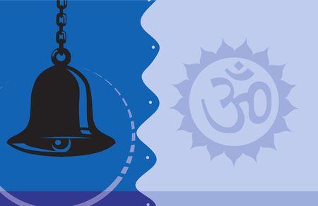 shakti: Illustration of Om with hanging bell