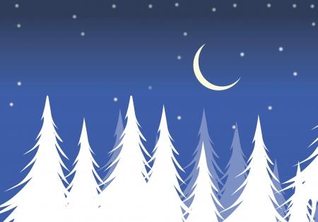 Illustration of Christmas night Stock Illustration - 2158198