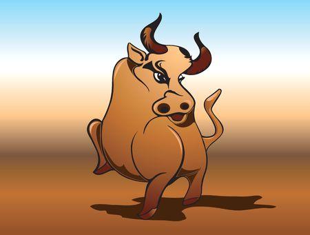 Illustration of Bull illustration
