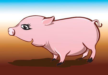 unpleasant: Illustration of Pig