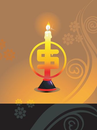radiant light: Illustration of  dollar shaped candle in radiant light   Stock Photo