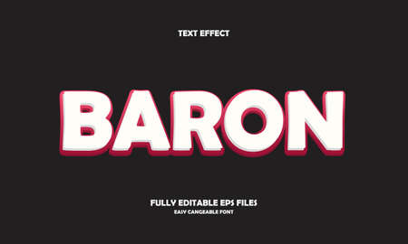 baron style text effect