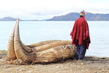 Aymara on Lake Titicaca in Huatajata, Bolivia