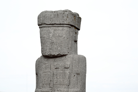 Ponce Monolith in Tiwanaku, Bolivia