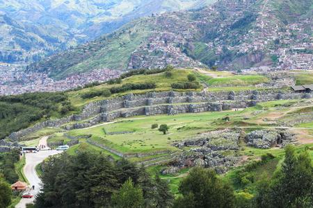 ペルー・クスコのサクサイワマン遺跡 写真素材