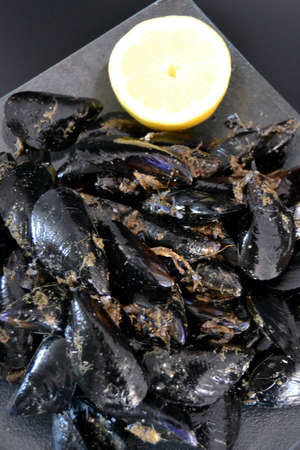 crustaceans: Mussels  Food and gastronomy  Crustaceans    Stock Photo