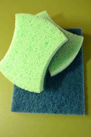 Green wool for cleaning Banco de Imagens