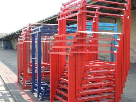 Shelvings for pallets for storage 写真素材