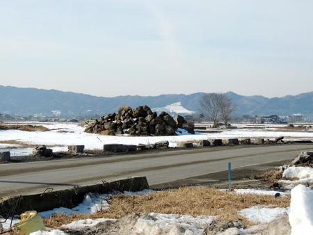 Tsunami-hit city Stock Photo
