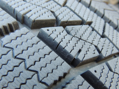 Studless tires Stock Photo