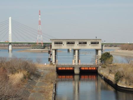 Sai lake water control dam