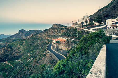 View on the Gran Canaria Mountains from Artenara village.