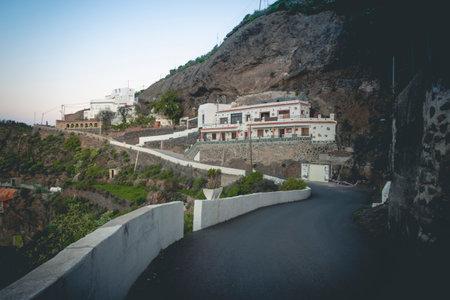 View on the Gran Canaria Mountains from Artenara village. Foto de archivo