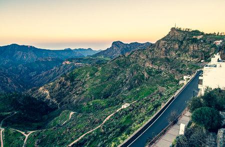 View on the Gran Canaria Mountains from Artenara village