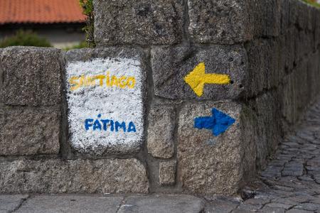 camino: Start point of the Camino Portugues from Porto, Portugal Stock Photo