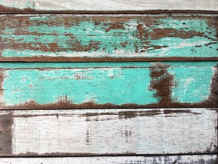 White green blue vintage wooden texture background Stock Photo