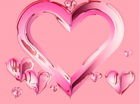pink hearts melting with space for text photo