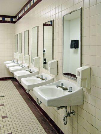 sinks in a public restroom