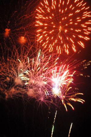 Public fireworks display photo