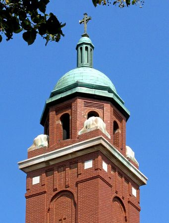 Cross and steeple of St. Raphael