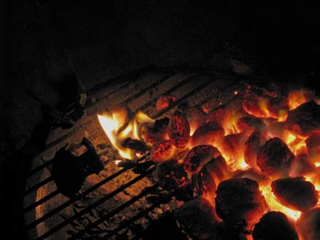 coals ready for the cookout Stock fotó
