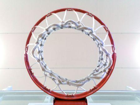 Up shot from beneath the basketball hoop. Banco de Imagens