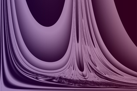Computer-generated fractal image resembling soft drapery in shades of purple and crimson.  Plenty of copy space.