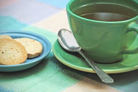 low cal: A light snack; a cup of tea and a few crackers.